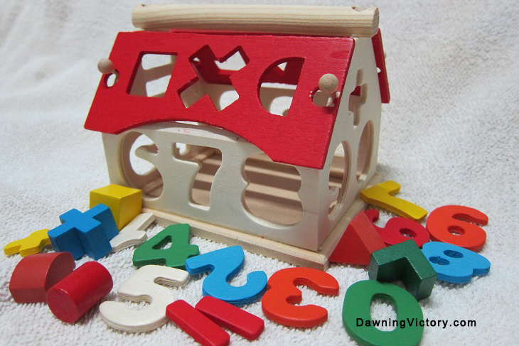New! Wooden Number House Math Montessori Educational Toy