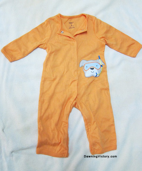 CARTERS SUPER-FUN SLEEPSUIT ROMPER