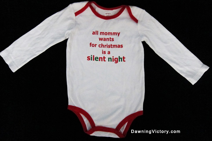 CARTERS CHRISTMAS ROMPER