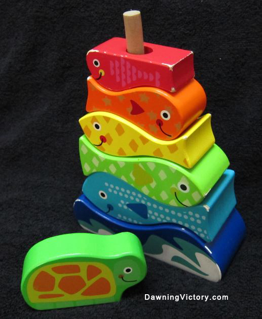 Montessori Early Learning Wooden Stacking Fishes & Turtle