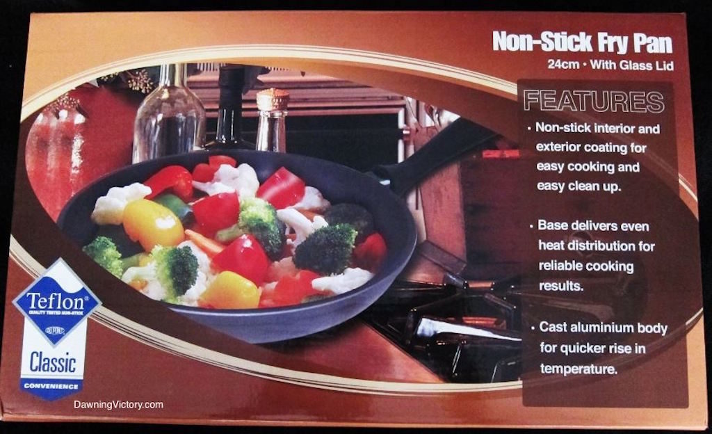 New-in-Box! AMWAY Teflon Non-Stick Fry Pan with Glass Lid
