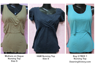 Nursing Tops Size S H&M, Mothers en Vogue