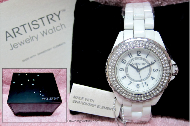 AMWAY Artistry Jewelry Watch - Made with Swarovski Elements