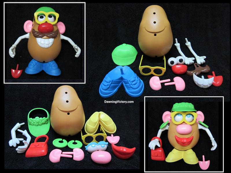 Mr Potato Head & Mrs Potato Head