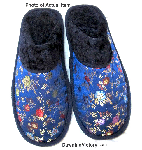 Shanghai Embroidery Brocade House Slippers with Plushy Cushions