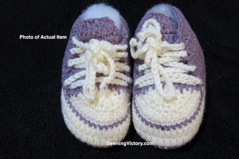 Hand-Knitted Soft Baby Sneakers